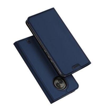 Housse Motorola Moto X4 Business imitation cuir - Bleu marine.