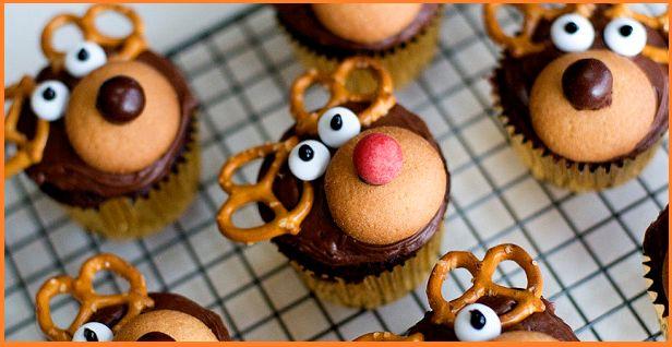 muffin renna di natale