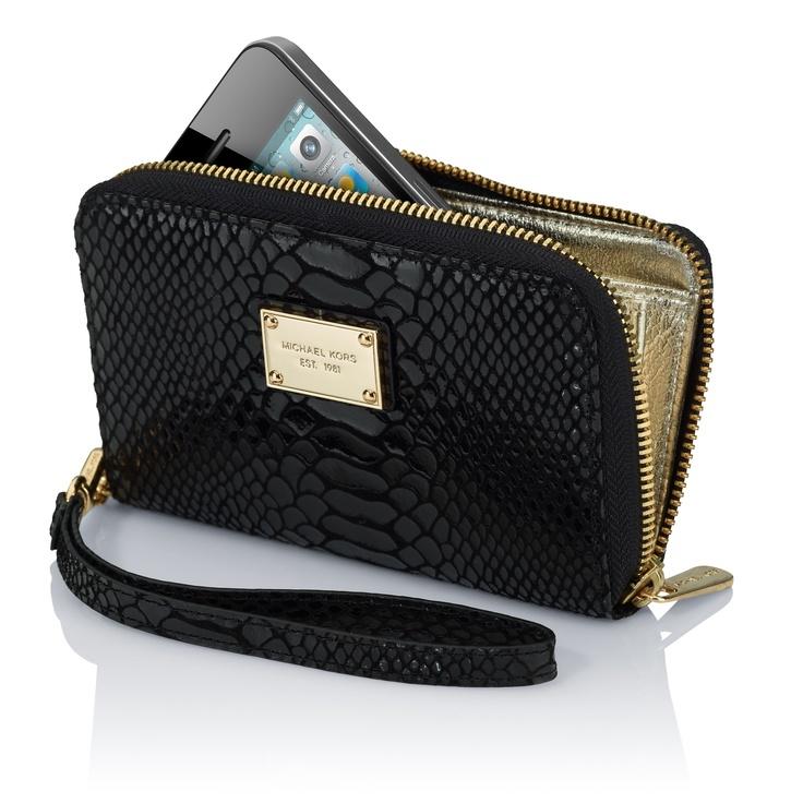 MICHAEL Michael Kors Essential Zip Wallet for iPhone $89 The pocketbook  style Essential Zip Wallet offers