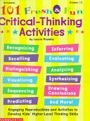 These game-like activities help reinforce the same higher level thinking strategies we ask students to do during reading.