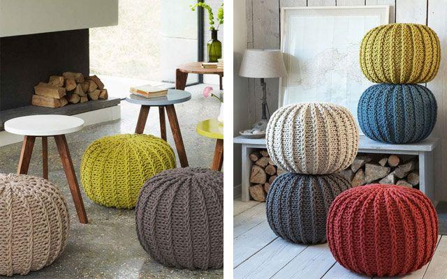 Decofilia te enseña 30 ejemplos de pufs de trapillo, lo último para fans del DIY en diseño decoración de interiores. ¡Ideal para el estilo nórdico!