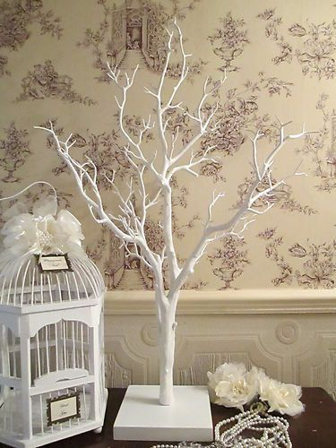 White wish tree makes a lovely touch. Drape The Pearls On The Branch !!!