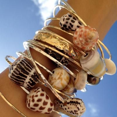 Shell Bangles=aloha style in stock now~see what we have at someday boutique