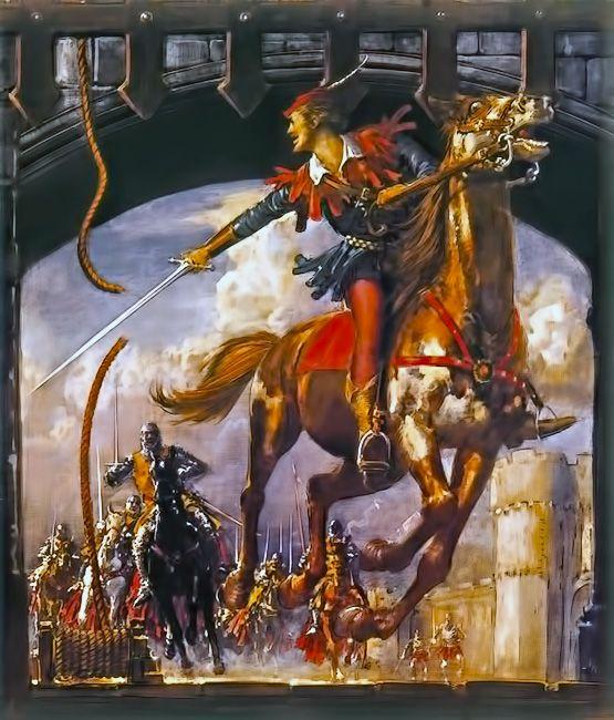Robin Hood Being Chased by Norman Soldiers by John Millar Watt.