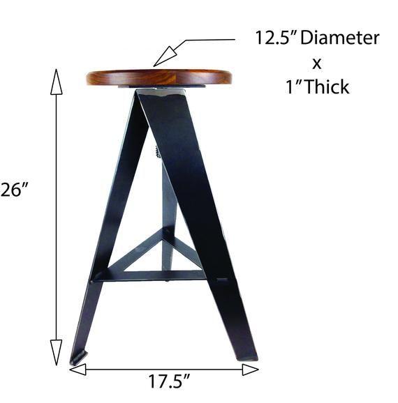 Superb Original Windmill Stool Raw Metal Legs Counter Height Machost Co Dining Chair Design Ideas Machostcouk