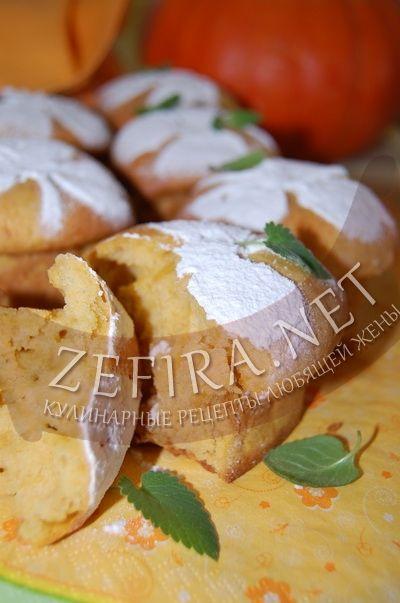 Пышные кексы  с тыквой  - рецепт на растительном масле с фото