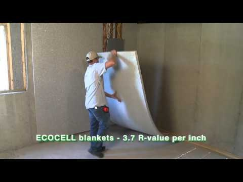 Ecocell batt and blanket insulation by cms insulation for Blanket insulation basement