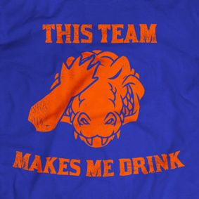 Gators THIS TEAM MAKES ME DRINK t-shirt