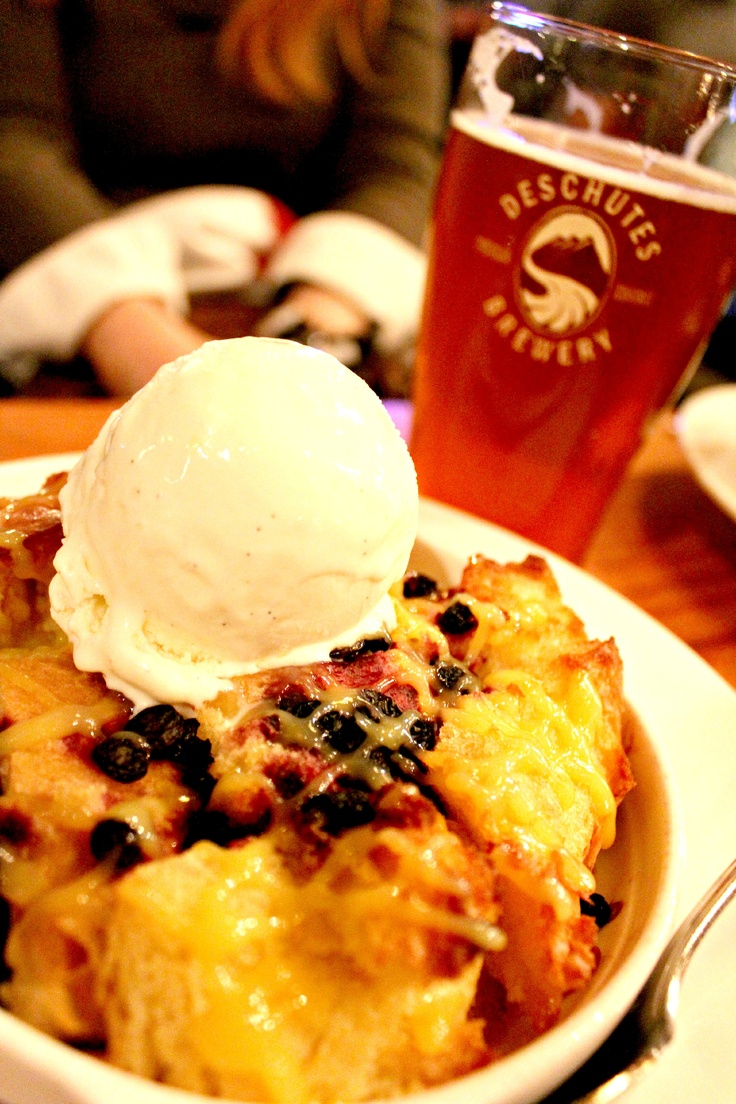 Huckleberry Hop Bread Pudding.. lets be honest,,., you had me at huckleberry
