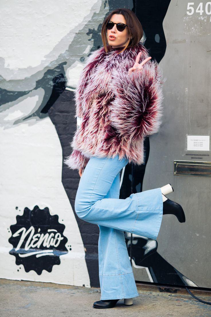 look do dia winter inverno nyfw flare jeans