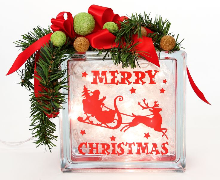 Glass Block Craft Ideas For Christmas Part - 37: Check Out Nicole™ Crafts Merry Christmas Glass Block Crafting Ideas At A.  Explore Many More Such Exceptional Art U0026 Craft Products Only Here.