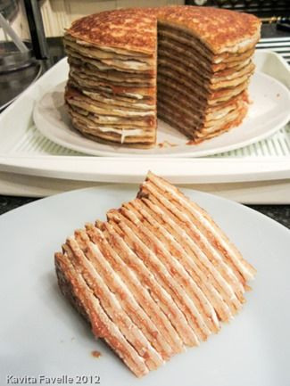 Speculoos and Mascarpone Pancake Cake - oouuu imagine serving this at brunch!