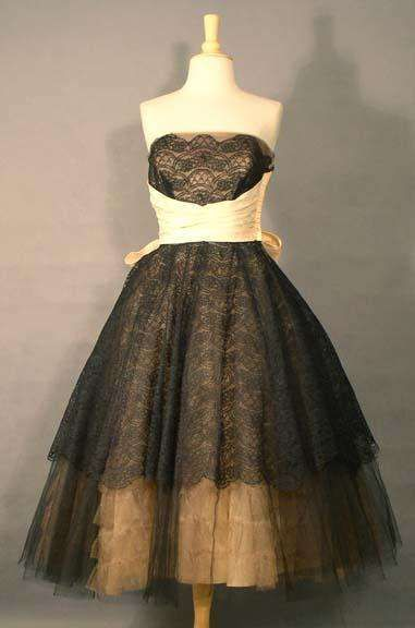 Vintage Prom Dresses-the sash could be a bit smaller and I would wear it.