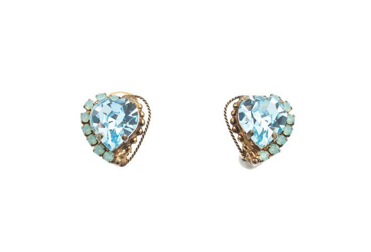 Heart shaped earrings by Art Wear Dimitriadis on Etsy