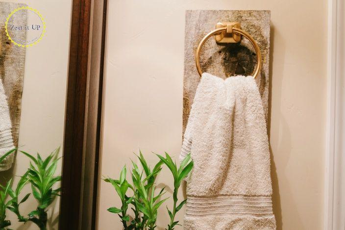 Hometalk   Easy Bathroom Hand Towel Holder