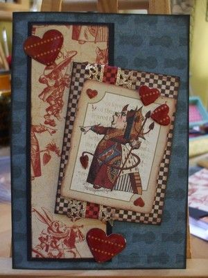 Alice in Wonderland Halloween card | Katy A Cards MISI Handmade Shop