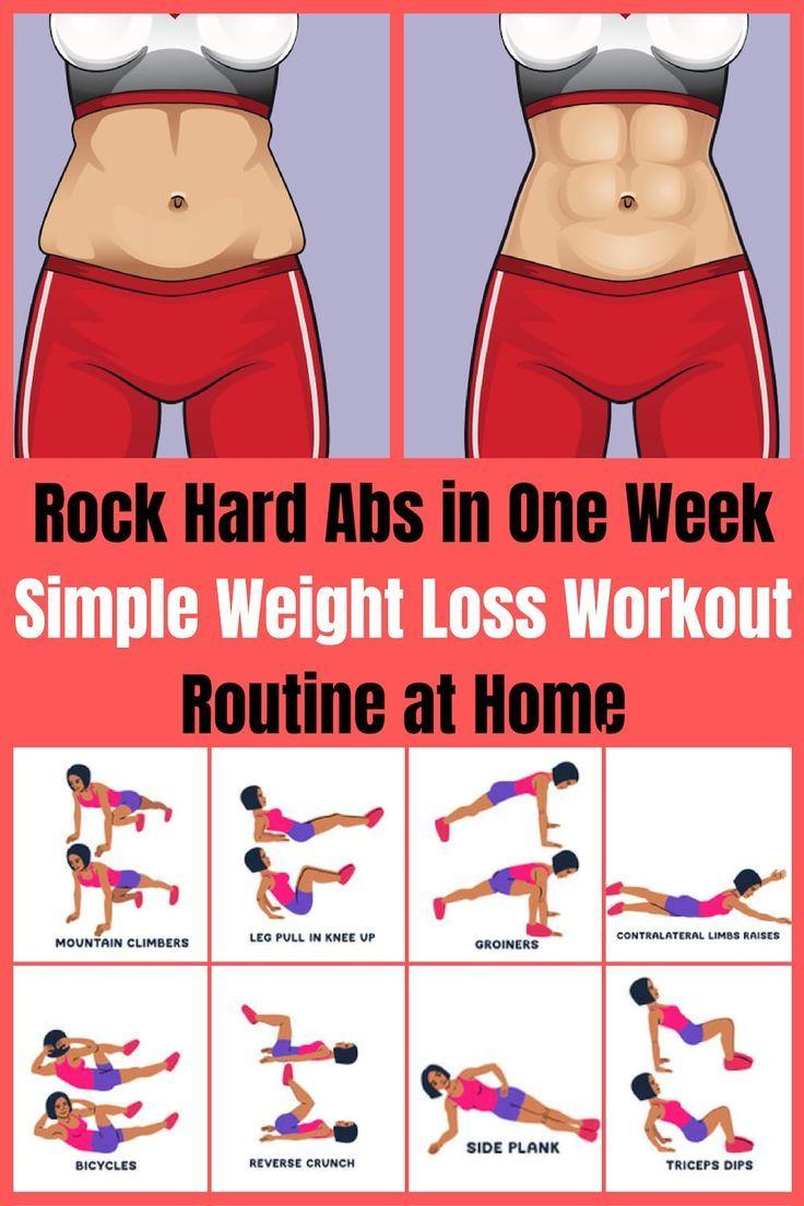 Rock Hard Abs in einer Woche – Einfache Weight Loss Workout Routine zu Hause Gew… – Sport