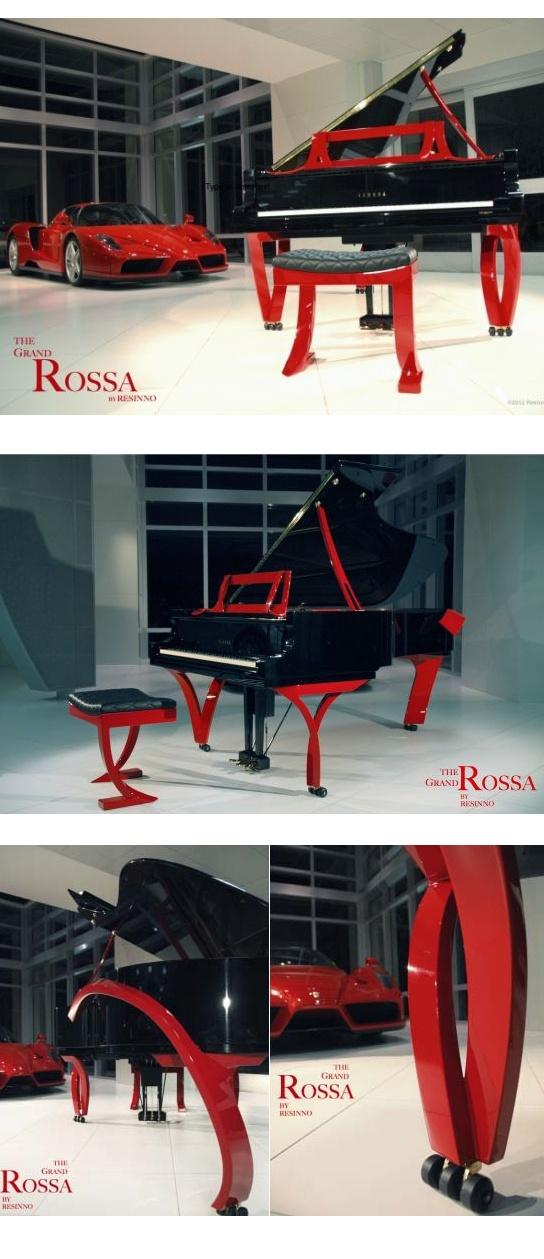 ResInno designs custom pianos even has piano inspired by Ferrari Testa Rossa