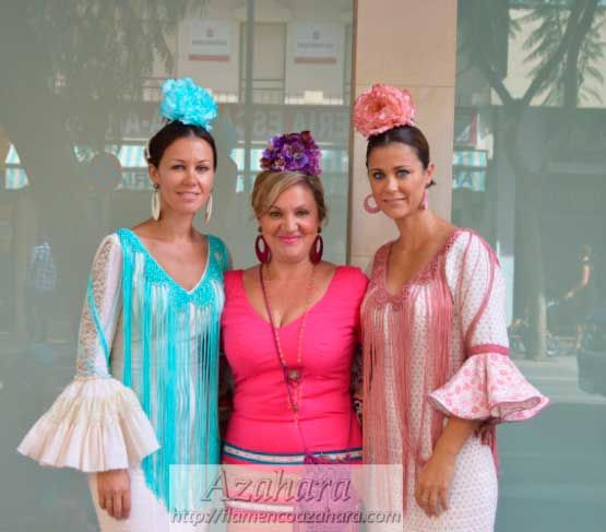#Tendencias #flamencas de la #FeriadelRosario #2015, #Fuengirola. Colorido, estampados y mucho estilo. #flamencoazahara