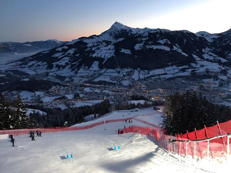 Morgenstimmung am Super-G Start #Hahnenkamm #Streif #Kitzbühel - Start Super-G um 11:30 Uhr