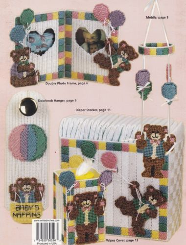 Baby-Bear-Hugs-Plastic-Canvas-Pattern-Booklet-HWB-181094-Mobile-Tote-amp-More-NEW
