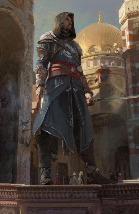 Ezio Auditore.   Assassin's Creed concept art
