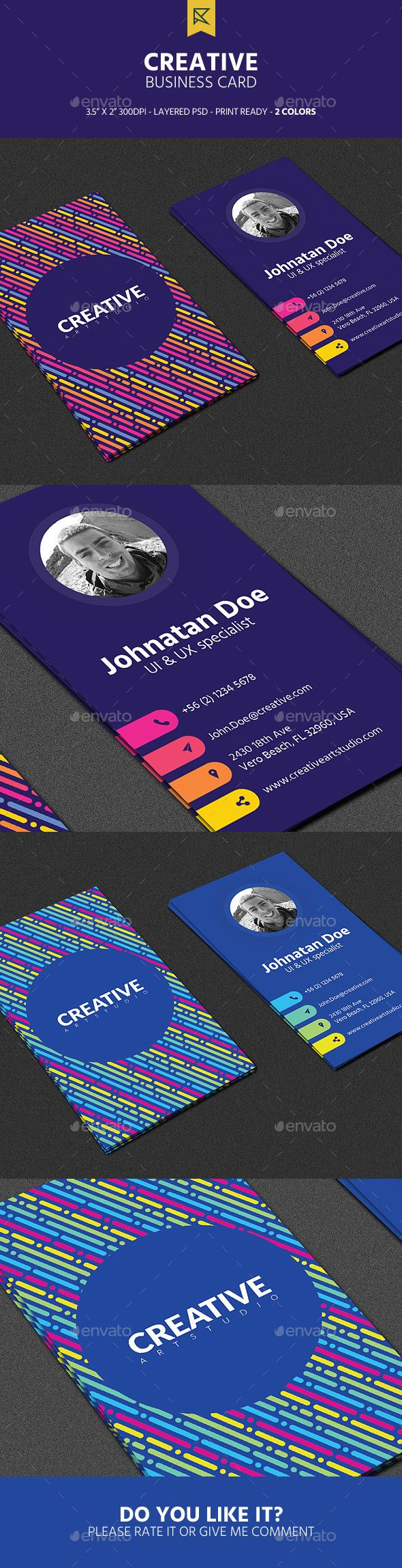 82 best business cards 2018 images on pinterest business cards creative vertical business card cheaphphosting Images