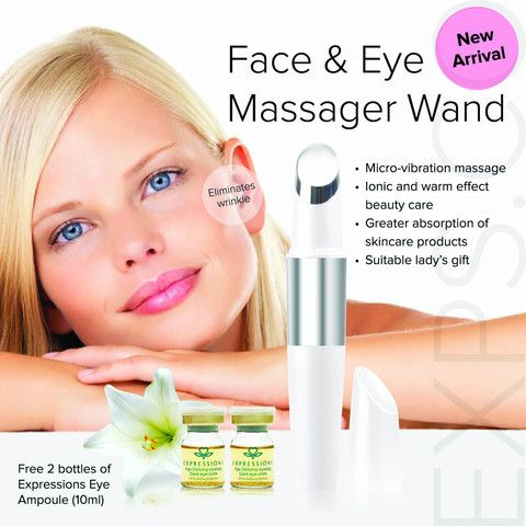 Magic Skin Wand.  Are you concerned about sagging skin, wrinkles, eye bags or puffiness?  Instead of thick eye creams and make up over your face and eye area,  try an approach that will make your skin healthier from the inside out -  Use a Face & Eye massager.