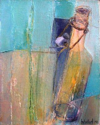 Bea van Twillert - Flesje 2, olieverf, more art: www.kirstenlovesart.com