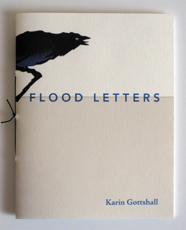 'Flood Letters', hand-sewn poetry chapbook by Karin Gottshall, published by Argos Books