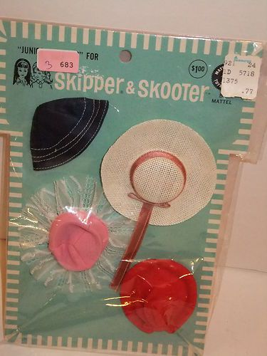 Barbie Doll 1964 Skipper Skooter Junior Fashions Hats Vintage | eBay