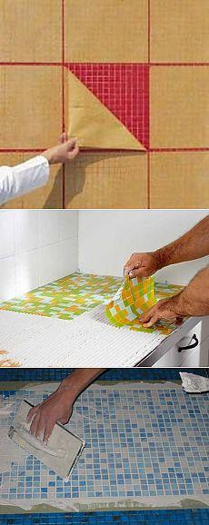 Особенности укладки мозаичной плитки на стены