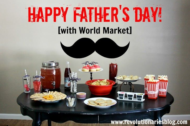 The Man, The Legend, The Stache ~ Father's Day Entertaining via Revolutionaries >> #WorldMarket Gifts for Him
