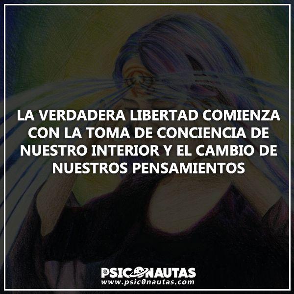 La verdadera libertad comienza con la toma de conciencia