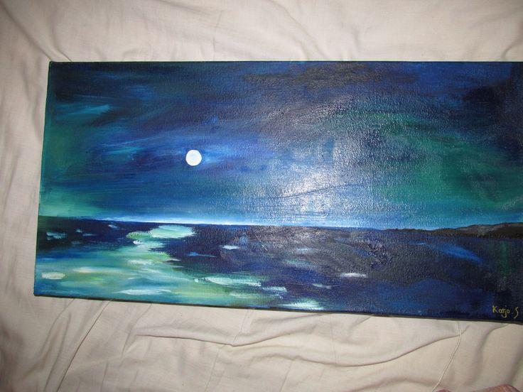 Moonscape... oil on canvas, Katja 2014