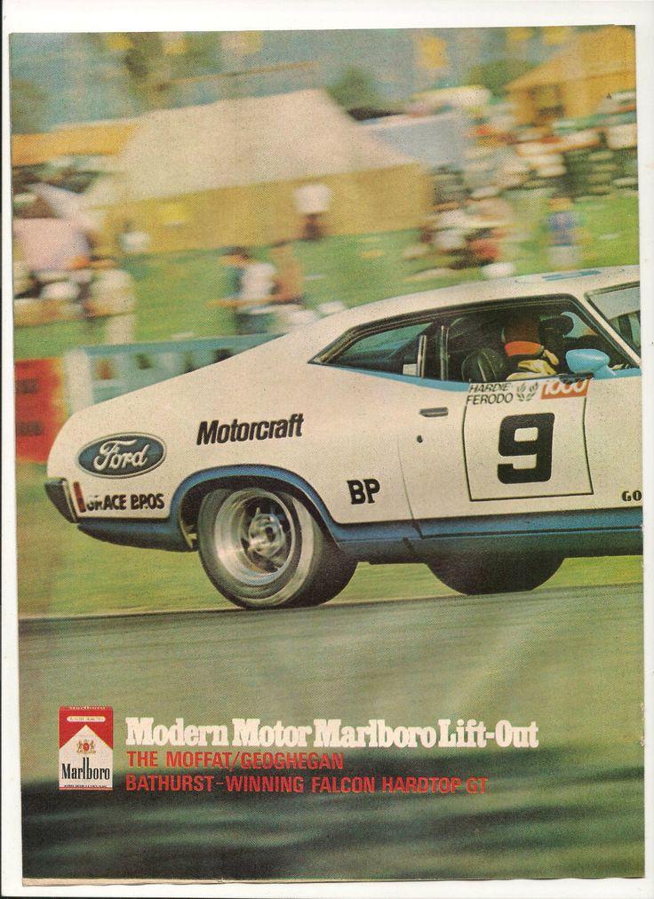 Original Vintage 1972 Allan Moffat Bathurst Ford Falcon 2 PG Centrefold Poster | eBay