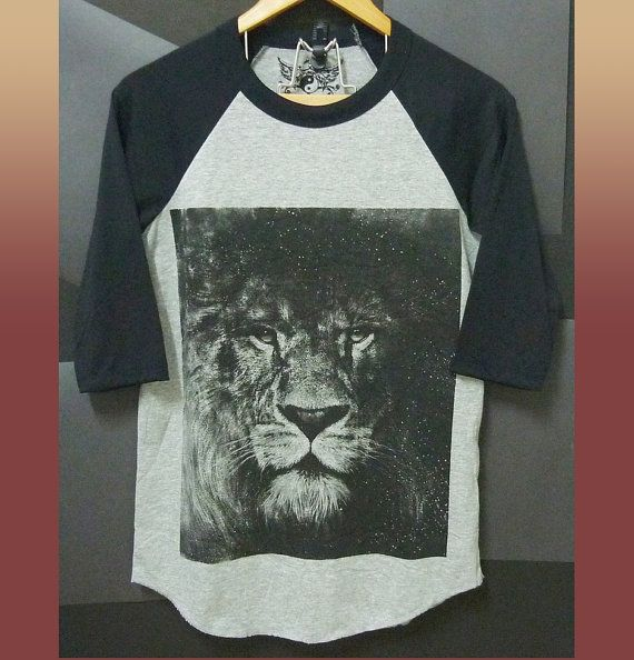S M L XL Raglan top Narnia lion baseball tshirt by WorkoutShirts