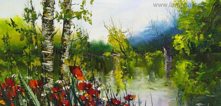 "http://www.largogallery.com/ Hikmet Cetinkaya, ""Poppies"", oil, canvas, 40/80"