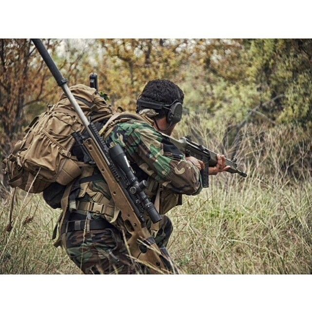"""""""Critical Skills Operators in the 3rd Marine Special Operations Battalion, U.S. Marine Corps forces Special Operations Command, conduct advanced sniper…"""""""