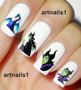 Disney Villains Maleficent Nail Art Nails Polish by artnails1