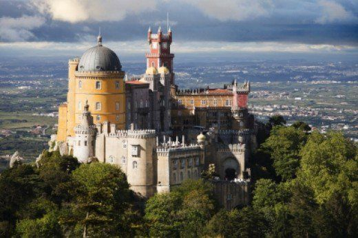 Pena palác v Sintra, která je jednou z možností, z pohádkového jednodenní výlet z Lisabonu