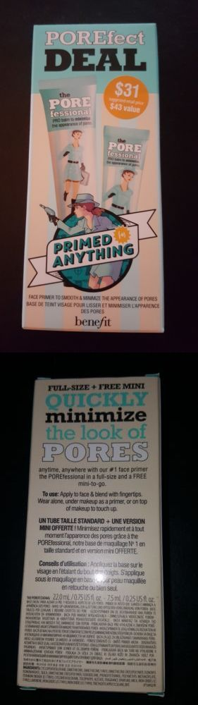Foundation Primer: Nib Benefit Porefect Deal Porefessional Face Primer Full Size And Mini Duo -> BUY IT NOW ONLY: $31 on eBay!