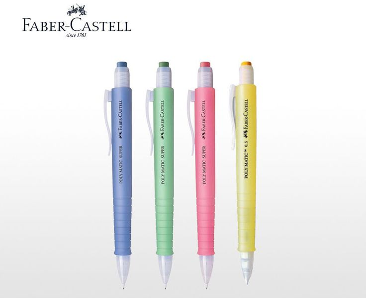Faber-Castell Poly Matic Mechanical Pencils Automatic 0.5mm - Long Eraser #FaberCastell