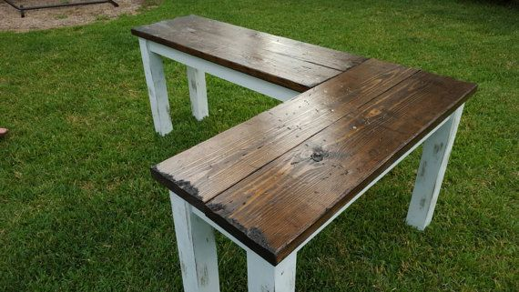 The Rustic Farmhouse L-shaped Desk by OVWood on Etsy