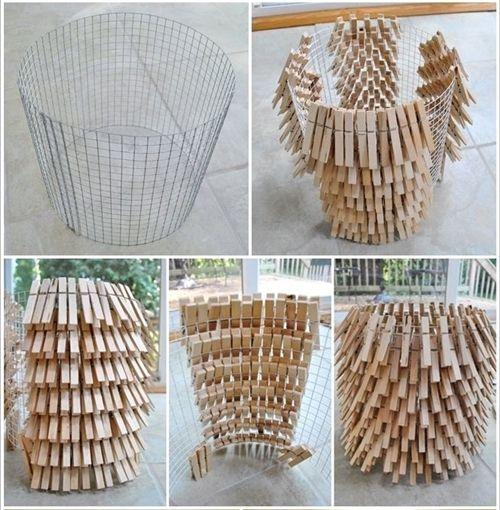 10 manualidades con pinzas de madera para decorar tu casa - Hacer manualidades para casa ...