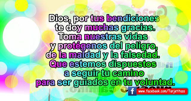 Por tus bendiciones te doy muchas gracias. Oración corta a Dios - Imágenes animadas   Meditaciones - Reflexiones -Tarjetas - Postales - Videos