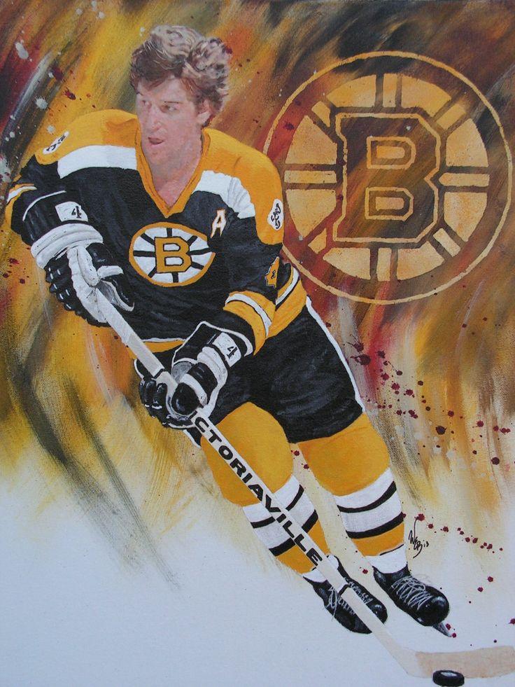 "Bobby Orr Boston Bruins 16""x20"" Acrylic Commision"