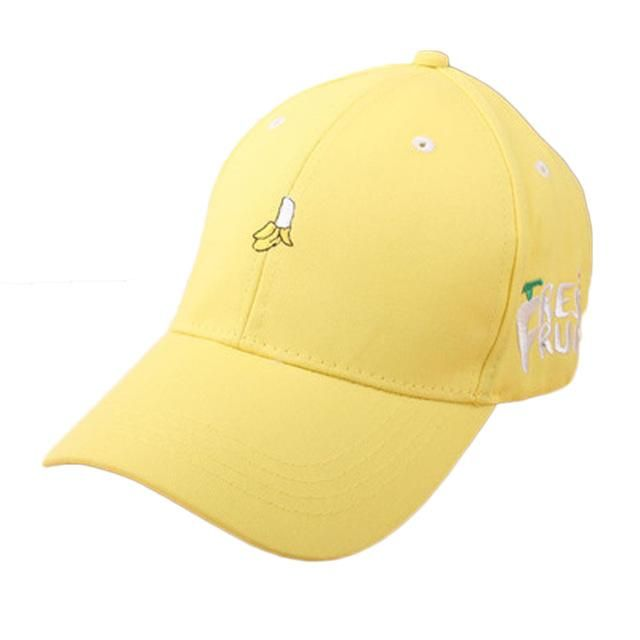 e3663bc79 New 2017 Spring Leisure Fresh Fruit Embroidery Hat Strawberry Banana ...
