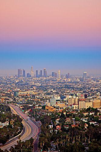 pastel sky mulholland drive stop LA via flickr