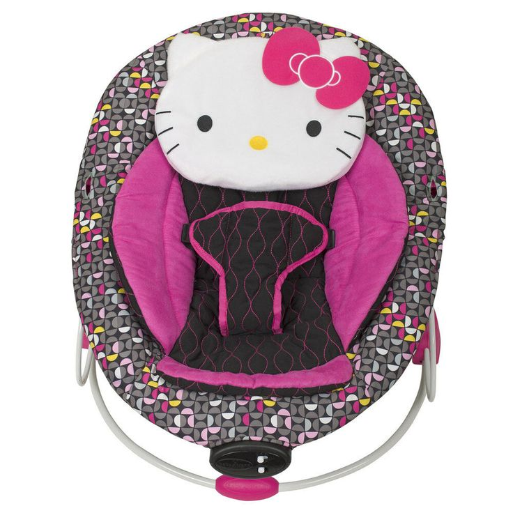 INFANT FUN INTERACTIVE BABY TREND HELLO KITTY PINWHEEL BOUNCER SUPER COMFORT